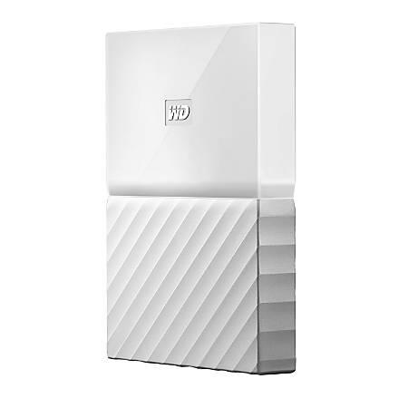 WD My Passport™ Portable External Hard Drive, 1TB, USB 2.0/3.0, WDBYNN0010BWT-WESN, White
