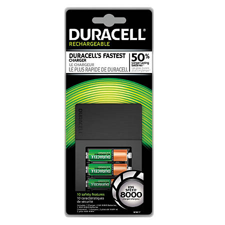 Chargers power cords banks office depot officemax duracell ion speed 8000 battery charger greentooth Choice Image