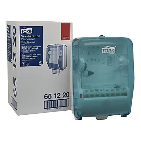 Tork Washstation Paper Wiper Dispenser, Aqua/White