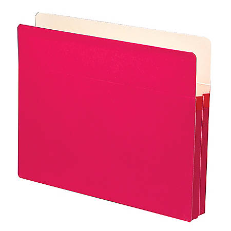"Smead® Color File Pockets, Letter Size, 1 3/4"" Expansion, 9 1/2"" x 11 3/4"", Red"