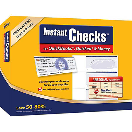 VersaCheck® InstantChecks™ Form #3001 Bundle, Traditional Disc