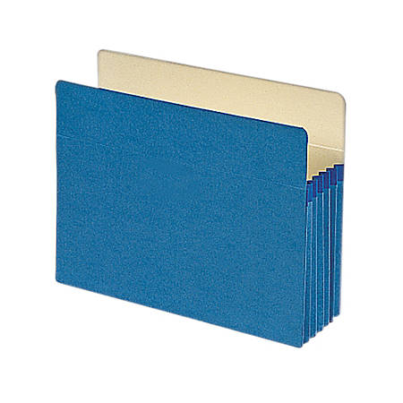 "Smead® Color File Pockets, Letter Size, 5 1/4"" Expansion, 9 1/2"" x 11 3/4"", Blue"