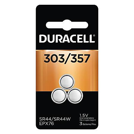 Duracell® 1.5 Volt Silver Oxide Battery, D303/357B3P10