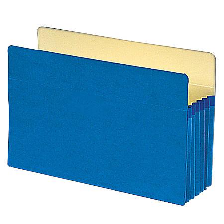 """Smead® Color File Pockets, 5 1/4"""" Expansion, 9 1/2"""" x 14 3/4"""", Blue"""