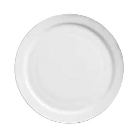 "World Tableware Porcelain Narrow-Rim Round Plates, 7 1/4"", White, Pack Of 36 Plates"