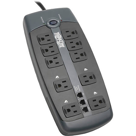 Tripp Lite Protect It 10-Outlet Surge Protector, 8' Cord, Black