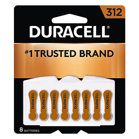 Duracell® 1.4 Volt Zn-air Hearing Aid Batteries With EasyTab, 312 Brown