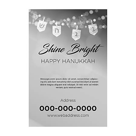 Window Decal Template, Bright Shine, Vertical