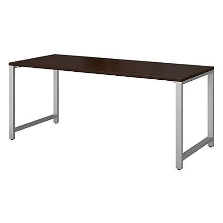 "Bush Business Furniture 400 Series Table Desks, 72""W x 30""D, Mocha Cherry, Standard Delivery"