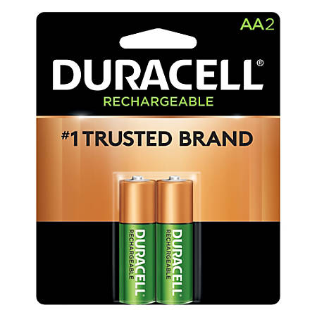 Duracell® Rechargeable Staycharged™ AA Batteries, Pack Of 2, NL1500B2N0001