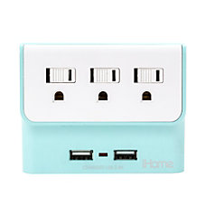iHome Trio Multicharge Power Adapter Green