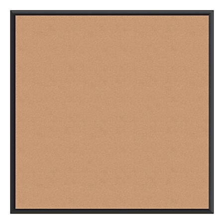 "U Brands Cork Bulletin Board, 36"" x 36"", Black Aluminum Frame"
