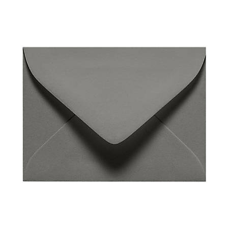 """LUX Mini Envelopes With Moisture Closure, #17, 2 11/16"""" x 3 11/16"""", Smoke Gray, Pack Of 500"""
