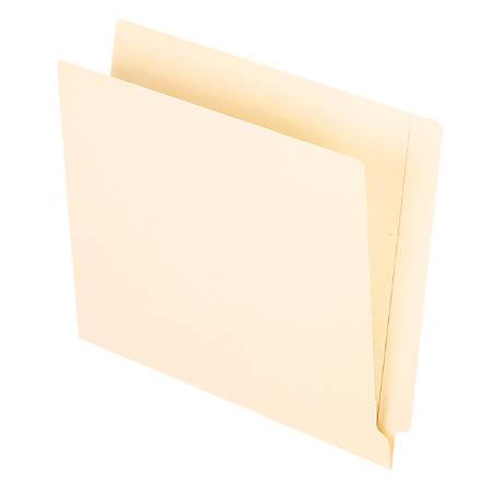 Office Depot® Brand End-Tab Folders, Straight Cut, Letter Size, Manila, Pack Of 100