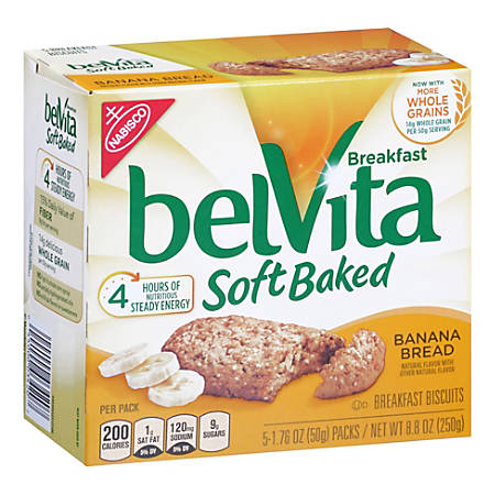 BELVITA Breakfast Biscuits Banana, 5 Count, 6 Pack