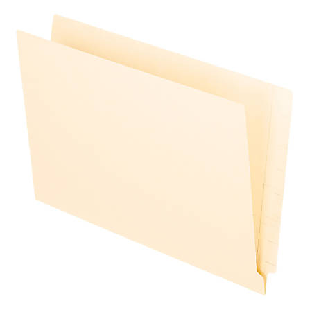 Office Depot® Brand End Tab Folders, Straight Cut, Legal Size, Manila, Pack Of 100