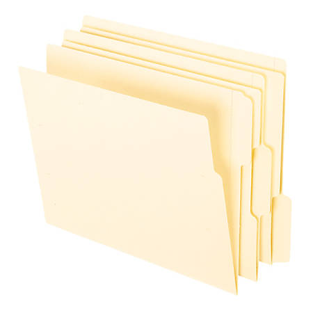 Office Depot® Brand Reinforced End-Tab Fastener Folders, Letter Size, Manila, Pack Of 100 Folders