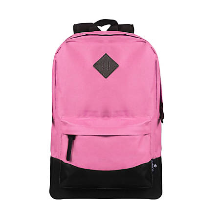 "Volkano Daily Grind Backpack With 18.1"" Laptop Pocket, Hot Pink"