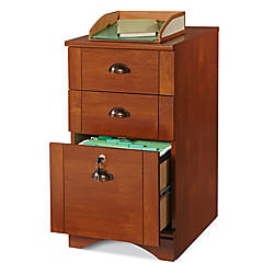 "Image result for Realspace Dawson 3-Drawer Vertical File Cabinet, 29""H x 15 1/2""W x 21 3/4""D, Brushed Maple"