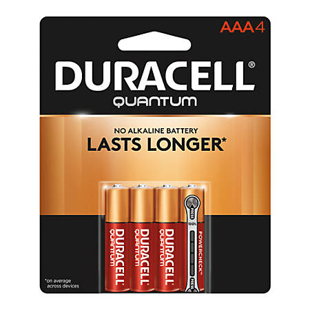 Duracell® Quantum Alkaline AAA Batteries, Pack Of 4
