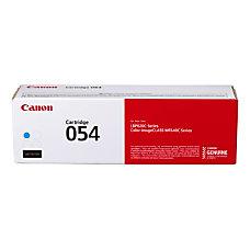 Canon Genuine 054 Toner Cartridge Cyan