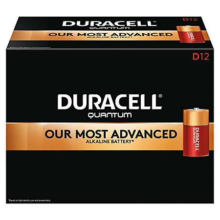 Duracell® Quantum Alkaline D Batteries, Pack Of 12