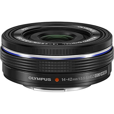 """Olympus M.Zuiko - 14 mm to 42 mm - f/3.5 - 5.6 - Zoom Lens for Micro Four Thirds - 37 mm Attachment - 0.23x Magnification - 3x Optical Zoom - MSC - 0.9""""Diameter"""