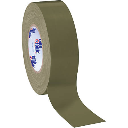 """Tape Logic® Color Duct Tape, 3"""" Core, 2"""" x 180', Olive Green, Case Of 24"""