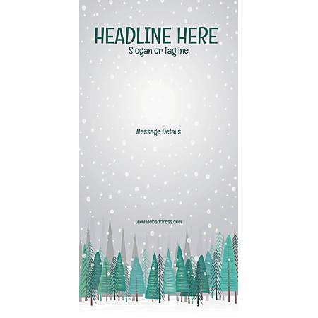Custom Vertical Display Banner, Snowfall