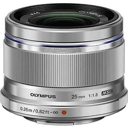 """Olympus - 25 mm - f/1.8 - Fixed Focal Length Lens for Micro Four Thirds - Designed for Camera - 46 mm Attachment - 0.12x MagnificationMSC - 2.2""""Diameter"""