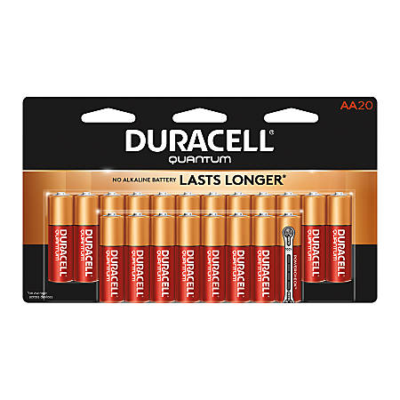 Duracell® Quantum Alkaline AA Batteries, Pack Of 20