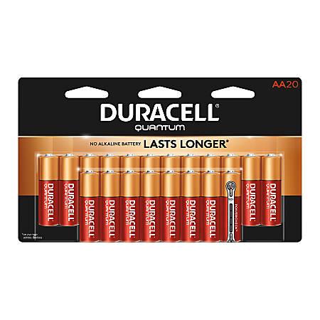 Duracell® Quantum Alkaline AA Batteries, Pack Of 20 Batteries