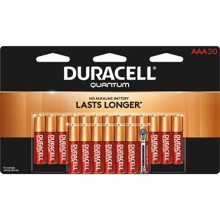 Duracell® Quantum Alkaline AAA Batteries, Pack Of 20