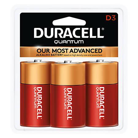 Duracell® Quantum Alkaline D Batteries, Pack Of 3 Batteries