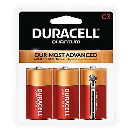 Duracell® Quantum Alkaline C Batteries, Pack Of 3