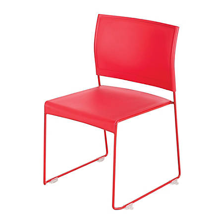 Safco® Currant™ High Density Stacking Chairs, Red, Set Of 4