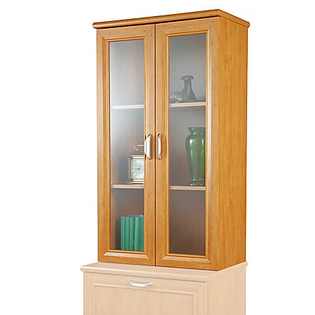 Realspace® Magellan 2-Shelf Hutch For Lateral File Cabinet, Honey Maple