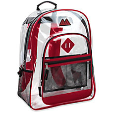 Trailmaker Clear Backpack Red