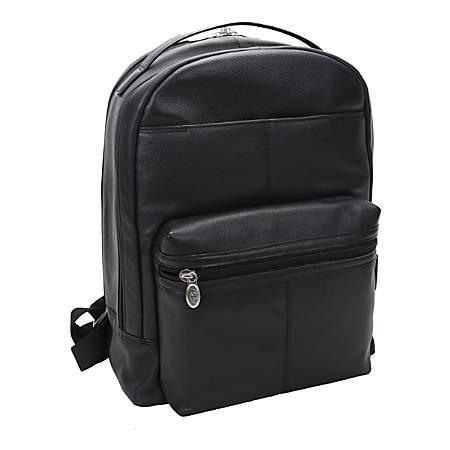 """McKlein S-Series Parker Backpack With 15"""" Laptop Pocket, Black"""