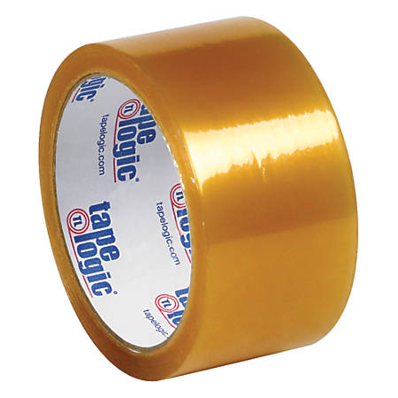 "Tape Logic® #50 Natural Rubber Tape, 3"" Core, 2"" x 110 Yd., Clear, Case Of 36"