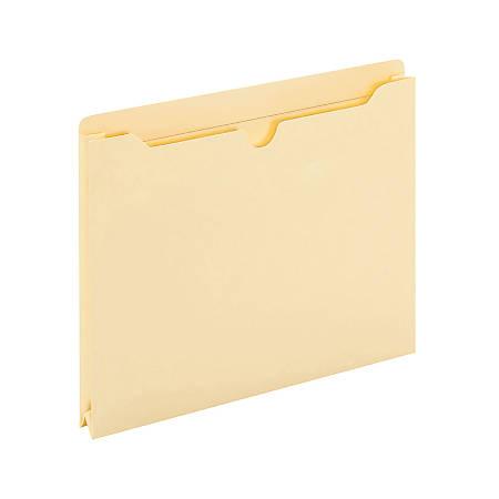 "Office Depot® Brand Manila File Jackets, 1"" Expansion, 8 1/2"" x 11"", Box of 50 File Jackets"