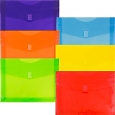 JAM Paper Plastic Envelopes With Velcro