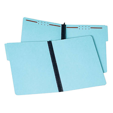 "Pendaflex® Pressboard Fastener Folders, 2"" Expansion, Letter Size, 100% Recycled, Light Blue, Pack Of 25 Folders"