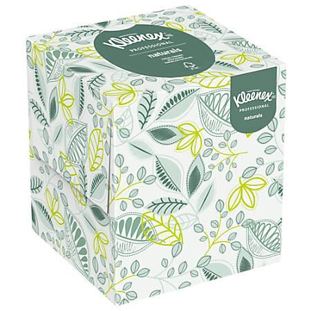 Kleenex® Naturals Facial Tissue, Boutique Box, 95 Sheets Per Box, Case Of 36 Boxes
