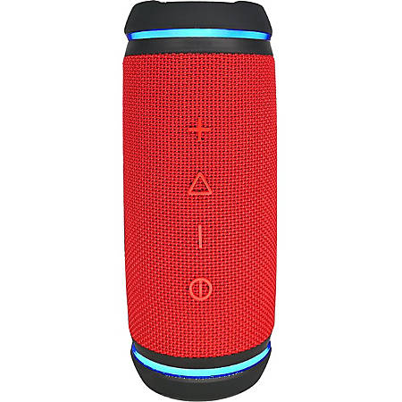 Morpheus 360 Sound-Ring BT5750RED Portable Bluetooth Speaker System - Red, Black - Bike Mount - TrueWireless Stereo, 360? Circle Sound - Battery Rechargeable