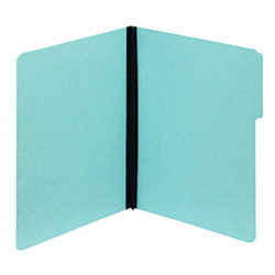 """Pendaflex® Pressboard Expansion File Folders Without Fasteners, 2"""" Expansion, Letter Size, 100% Recycled, Light Blue, Pack Of 25 Folders"""