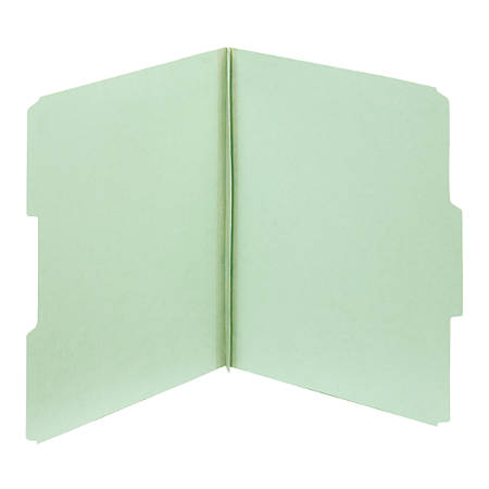 """Pendaflex® File Folders With Fasteners, Letter Size, 1/3 Cut, 2"""" Expansion, 60% Recycled, Light Green, Box Of 25 Folders"""