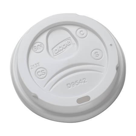 Dixie® Dome Lids For 12-16 Oz. Cups, White, Case Of 500