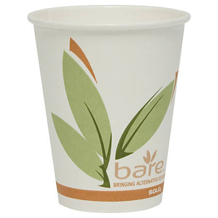 Solo® Bare™ Hot Cups, 8 Oz., Pack Of 50