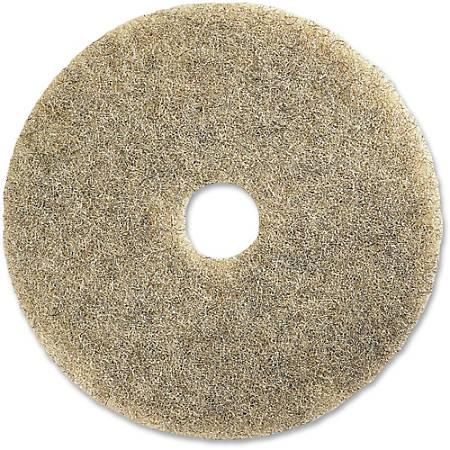 """Genuine Joe General Purpose Floor Pad, 20"""" Diameter, Natural, Carton Of 5"""